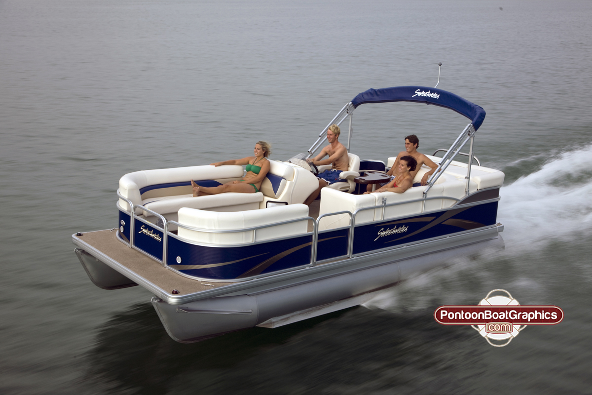 Get Your Pontoon Ready For Summer Pontoon Boat Decals - Vinyl graphics for pontoon boats