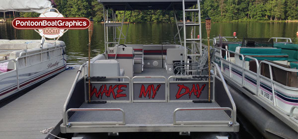 Types Of Pontoon Boat Graphics Pontoon Boat Decals - Decals for pontoon boats