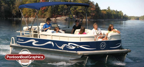 PontoonboatGraphicscom Blog - Cool boat decals
