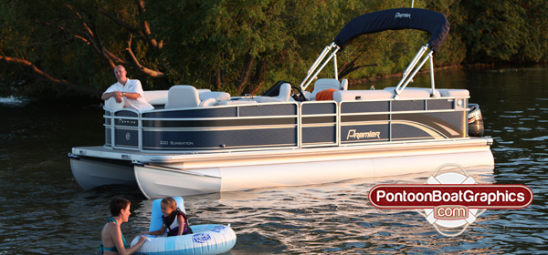 Pontoon Boat Graphics Vinyl Decals Name